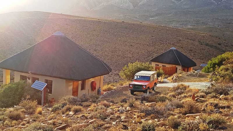 Vêrgenoeg self-catering chalets on a farm near Prince Albert, Western Cape, South Africa