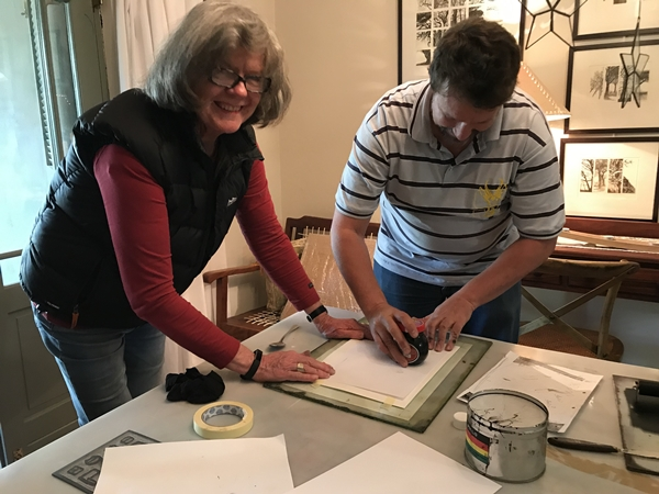 Diane Johnson Ackerman gives a printmaking workshop