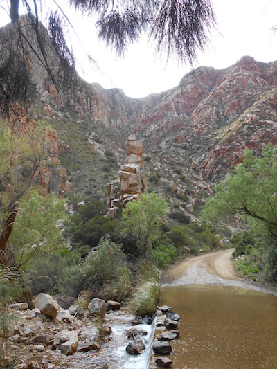 The road through the Swartberg Pass has re-opened. It offers a spectacular drive across the Cape fold sandstone range.  Photo: Ailsa Tudhope